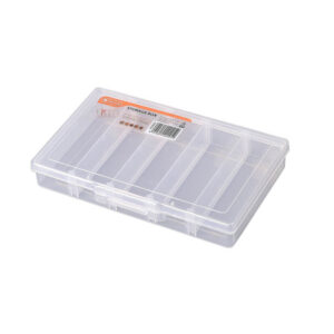 TACTIX 5 COMPARTMENT CLEAR ORGANISER STORAGE BOX