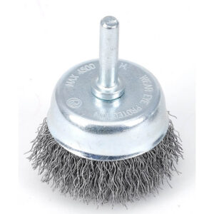 TACTIX CRIMPED WIRE CUP BRUSH - 6mm ROUND SHANK