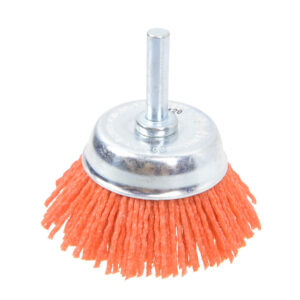 TACTIX 50mm ABRASIVE NYLON WIRE CUP BRUSH 6mm SHANK